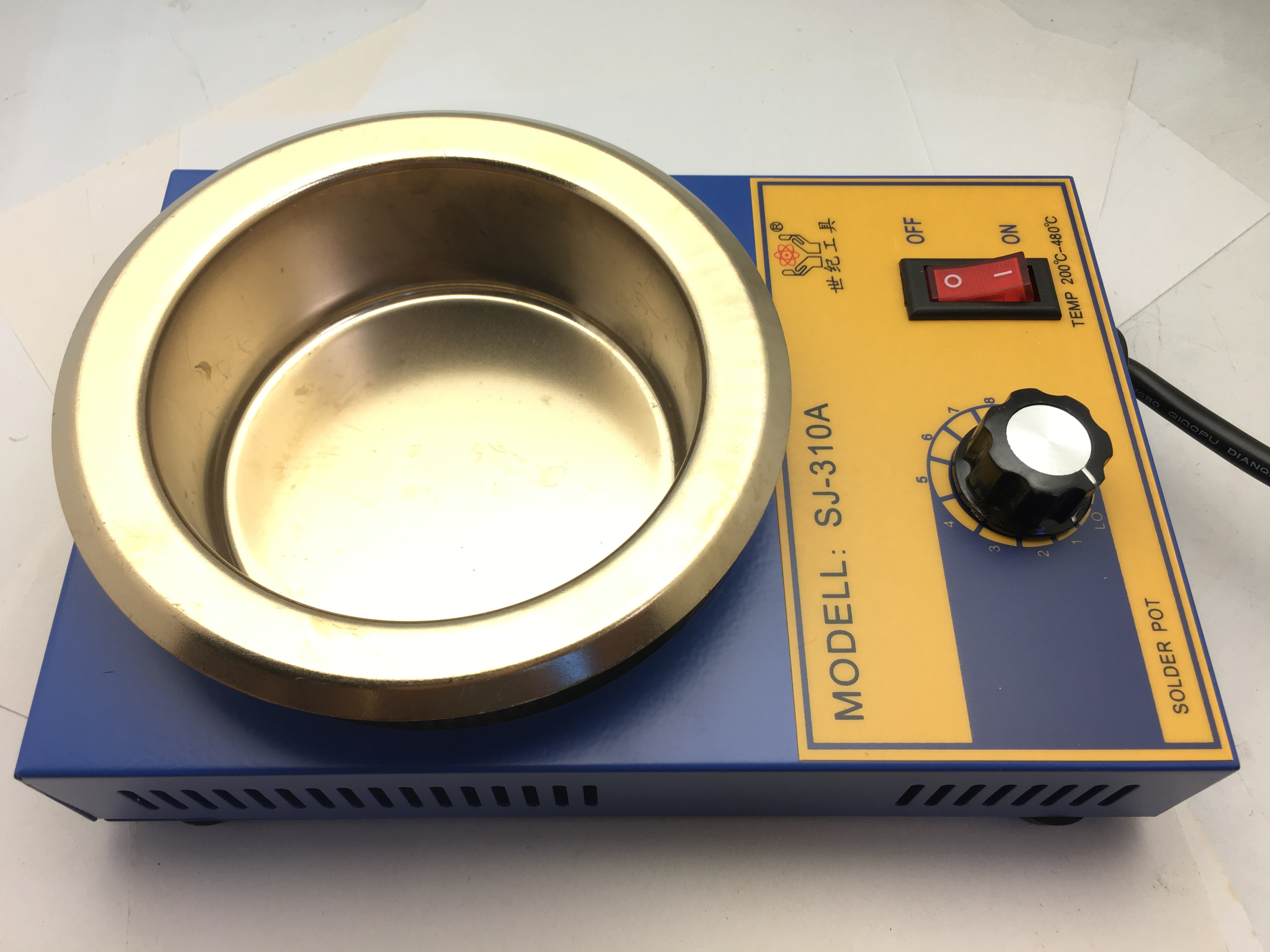 High Quality 300W Lead-free Round Tin Soldering Pot Factory SJ-310A
